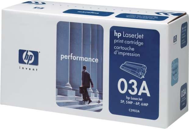 HP Original OEM C3903A Black Laser Toner Cartridge