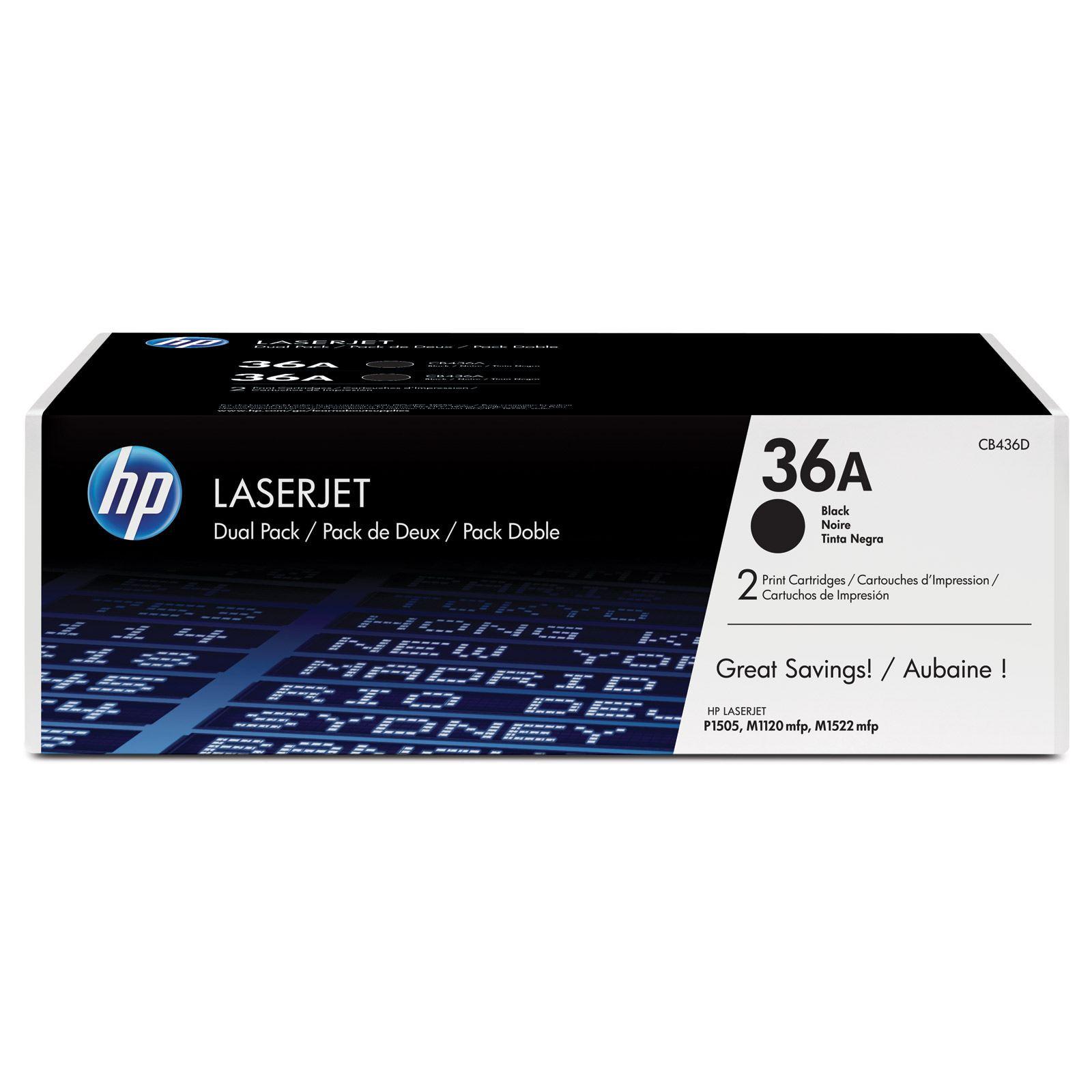 Hp Original Oem Cb436a Black Laser Toner Cartridge Dual