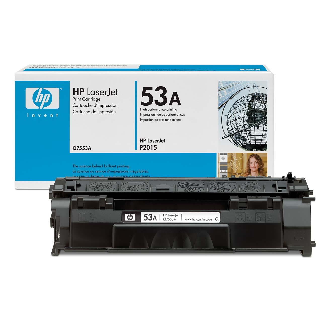 Hp Original Oem Q7553a Black Laser Toner Cartridge