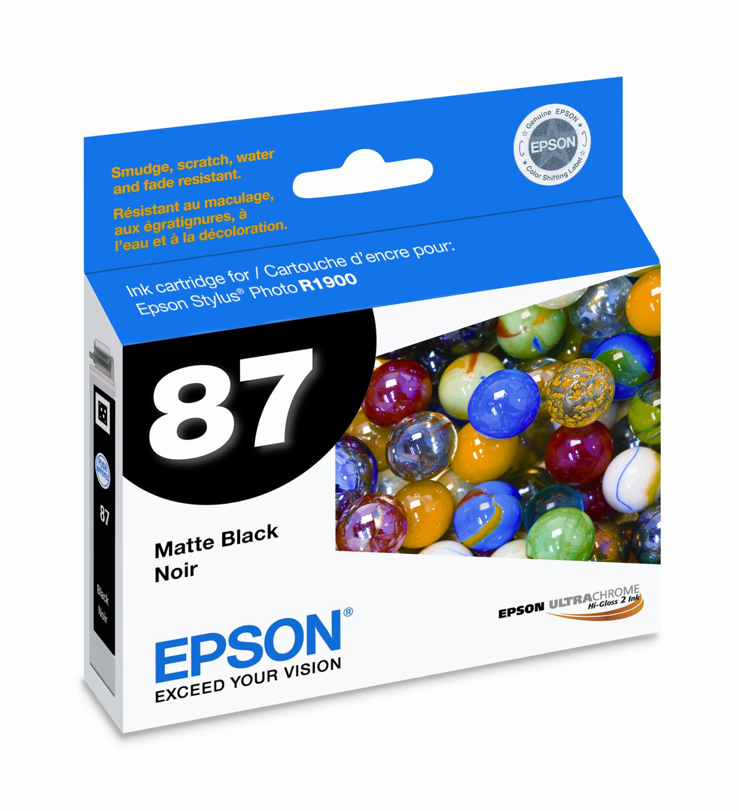 Epson Original OEM T087020 Gloss Optimizer Printer Ink Cartridge