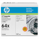 HP Original OEM CC364X Black Laser Toner Cartridge 2 pk.